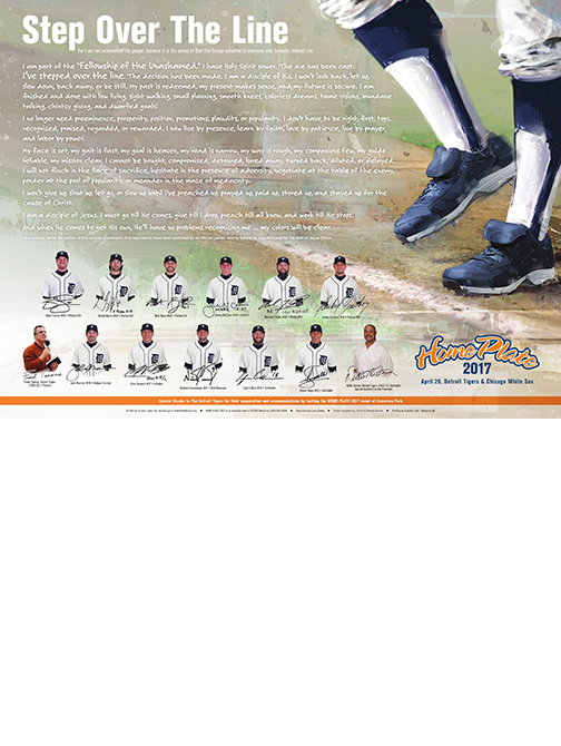Home Plate Detroit Poster